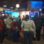 Big crowd around the Speedrunners competition