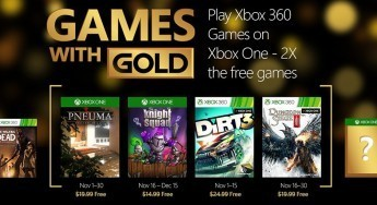 November's Games With Gold lineup revealed!