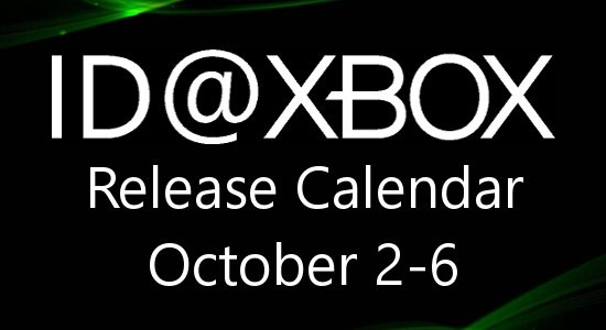 ID@Xbox Release Calendar for October 2-6